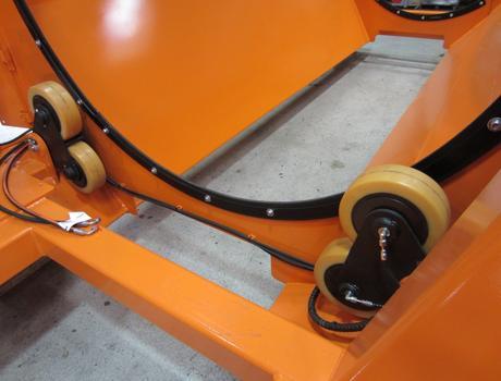 Стационарный грохот (сепаратор барабанный) SM 518 F - уплотнительные ролики барабана