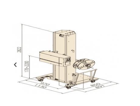 Полуавтоматическая степпинг машина для обвязки паллет TP-502MH