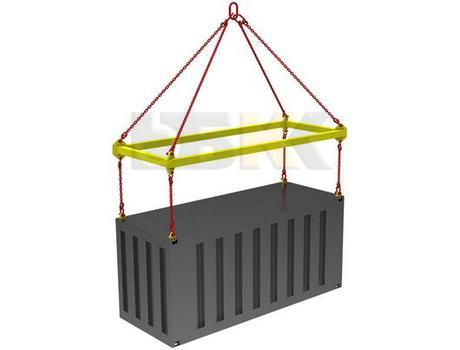Траверса ручная для контейнеров тип ТРК1 за центр с креплением за верхние фитинги