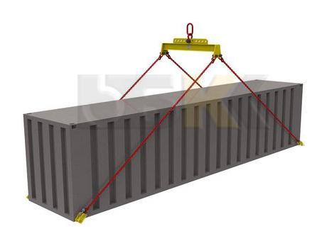 Траверса ручная для контейнеров тип ТРК9 за центр с креплением за нижние фитинги и балансиром