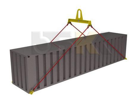 Траверса ручная для контейнеров тип ТРК10 за центр с креплением за нижние фитинги