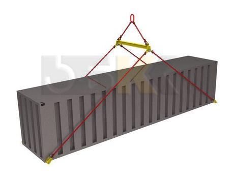 Траверса ручная для контейнеров тип ТРК8 за края с креплением за нижние фитинги
