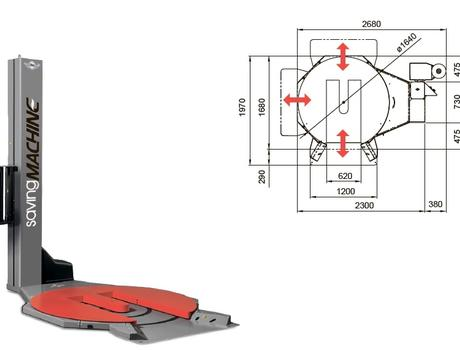 Паллетообмотчик вертикальный Saving Machine