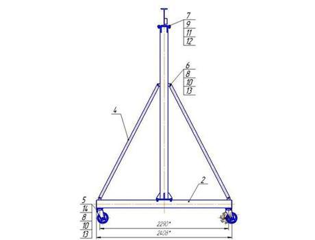 Устройство перегрузочное мобильное (УПМ) г/п 3200 кг