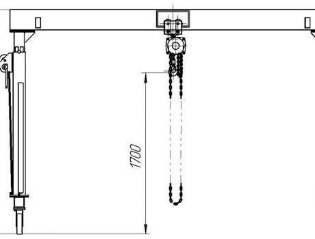 УПМ-1000 с регулируемой высотой подъема габариты