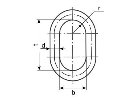 Звено типа ОВ1 - габаритная схема
