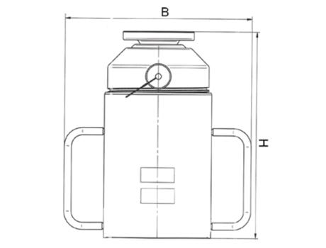 Алюминиевые домкраты с гайкой-фиксатором на корпусе серии ДГА