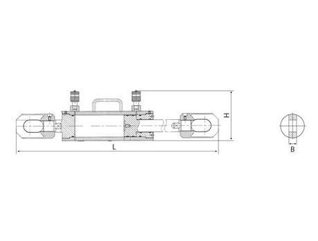 Тянущие стальные и алюминиевые гидравлические домкраты ДО