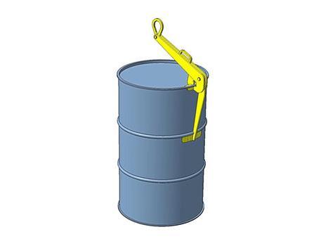 Захват клещевой для подъема бочек в вертикальном положении