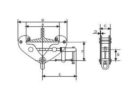 Захват-струбцина JBC-3A, г/п 3 т