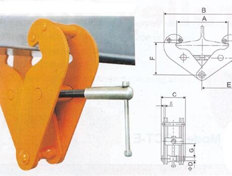 Захват-струбцина JBC-2A, г/п 2 т
