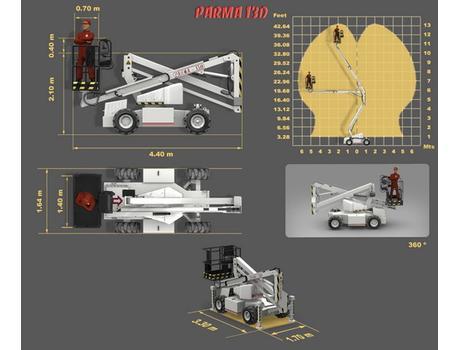 Коленчатый подъемник Parma 13D