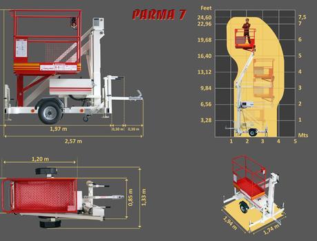 Коленчатый подъемник Parma 7