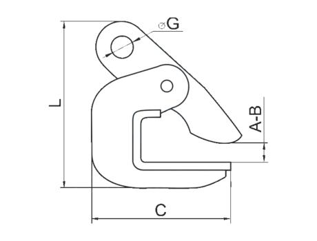 PDB-2.0, захват для горизонтального подъема листового металла