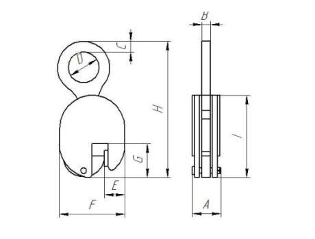 Захват для вертикального подъема листового металла JCD, г/п 1т