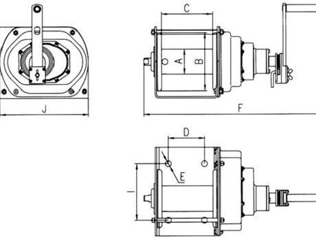 Лебедка ручная JC-E - схема